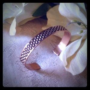 Vintage Stamped Copper Cuff Bracelet